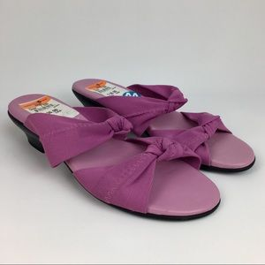 Munro American Front Knot Purple Sandal WIDE